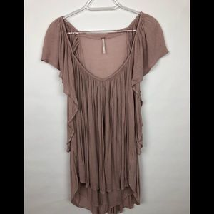 Free People Forever &Always Scoop Neck Top Med